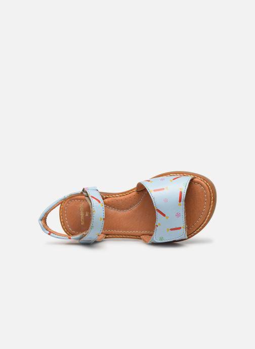 Sandales et nu-pieds Babybotte Kokotiersan x SARENZA Bleu vue gauche
