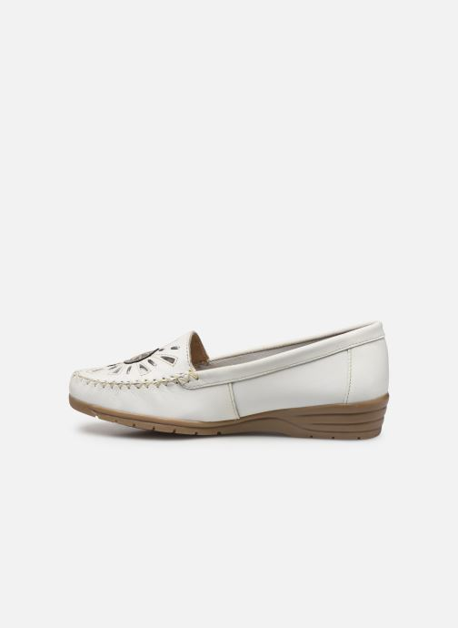 Mocassins Pédiconfort Laura Largeur Confort C Blanc vue face