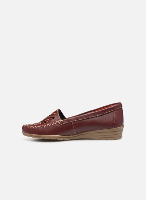 Loafers Pédiconfort Laura Largeur Confort C Burgundy front view