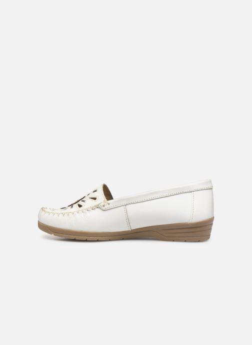 Loafers Pédiconfort Laura Grande Largeur C White front view
