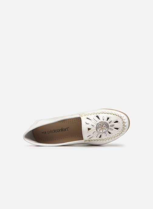 Loafers Pédiconfort Laura Grande Largeur C White view from the left