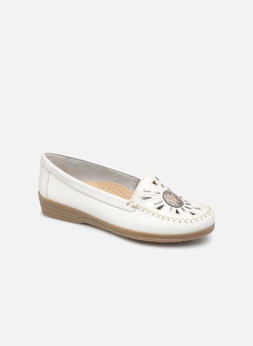 Loafers Pédiconfort Laura Grande Largeur C White detailed view/ Pair view