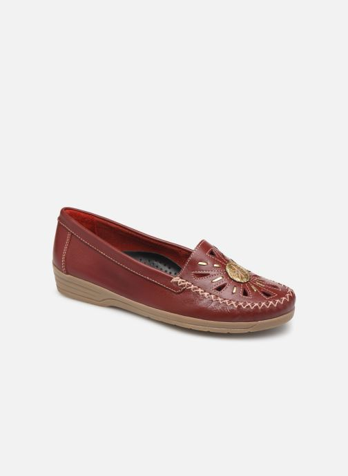Loafers Pédiconfort Laura Grande Largeur C Red detailed view/ Pair view