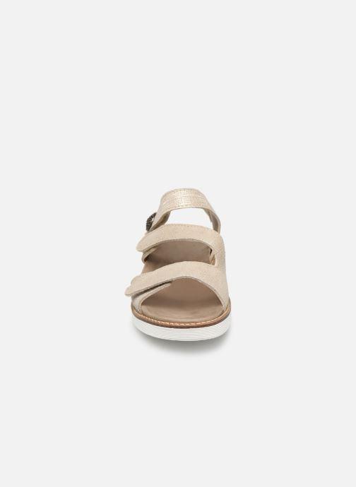 Sandales et nu-pieds Pédiconfort Lamie C Beige vue portées chaussures