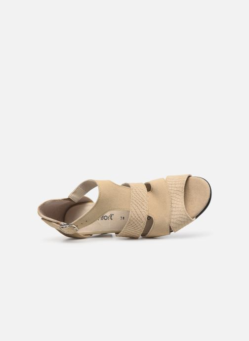 Sandales et nu-pieds Pédiconfort Anis C Beige vue gauche