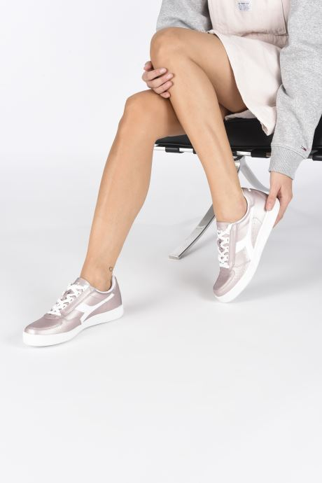 Trainers Diadora B.Elite L  Metallic Wn Pink view from underneath / model view
