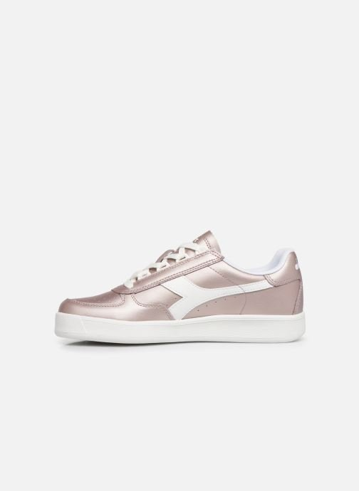 Sneakers Diadora B.Elite L  Metallic Wn Rosa immagine frontale
