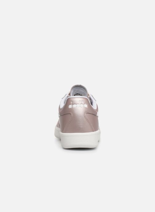 Trainers Diadora B.Elite L  Metallic Wn Pink view from the right