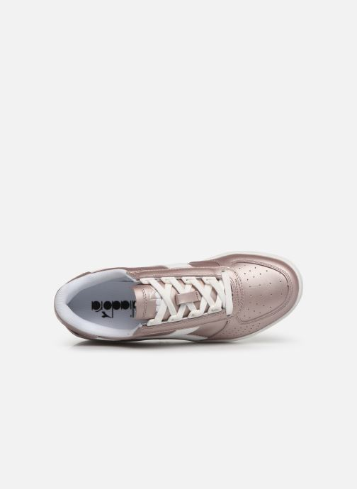 Sneakers Diadora B.Elite L  Metallic Wn Rosa immagine sinistra