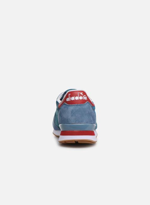 Baskets Diadora Camaro Premium Bleu vue droite