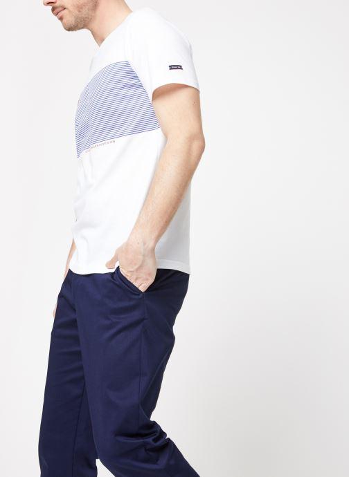 Vêtements Armor Lux Tee-Shirt Sérigraphié Blanc vue droite
