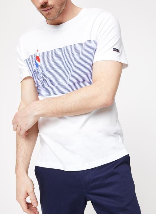 Vêtements Armor Lux Tee-Shirt Sérigraphié Blanc vue détail/paire