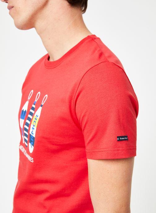 Vêtements Armor Lux Tee-Shirt Sérigraphié Blanc vue face