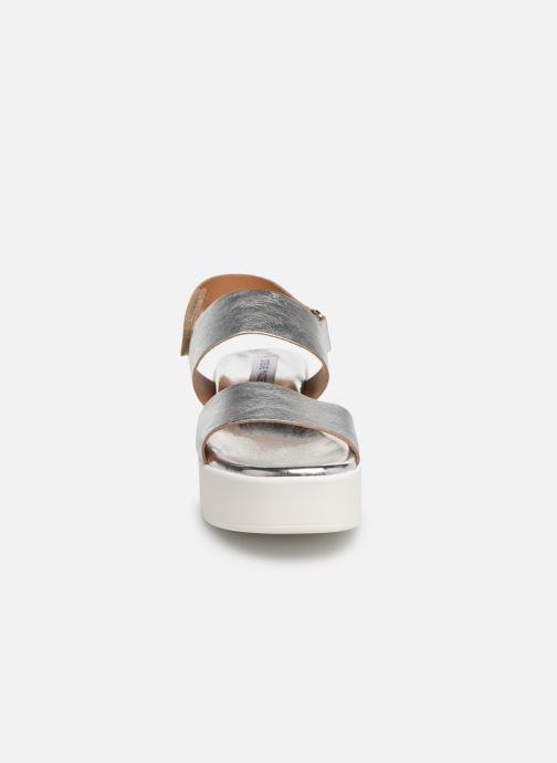 Sandales et nu-pieds Steve Madden Rachel Sandal Argent vue portées chaussures