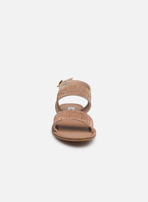 Sandales et nu-pieds Steve Madden Alea Sandal Or et bronze vue portées chaussures