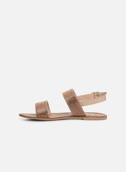 Sandales et nu-pieds Steve Madden Alea Sandal Or et bronze vue face