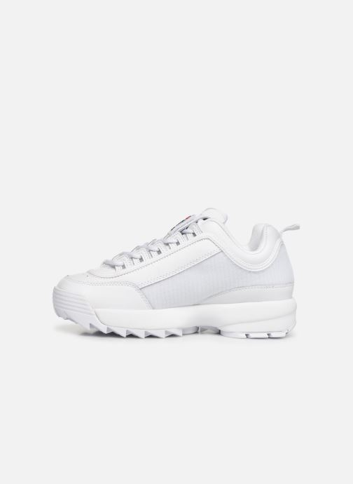 Baskets FILA Disruptor II Patches Blanc vue face