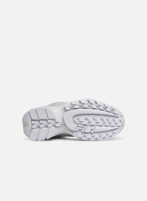 Baskets FILA Disruptor II Patches Blanc vue haut