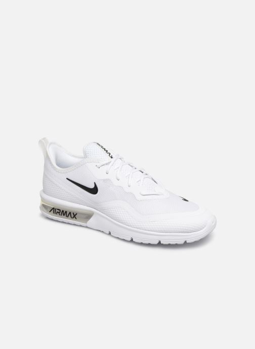 Baskets Nike Nike Air Max Sequent 4.5 Blanc vue détail/paire