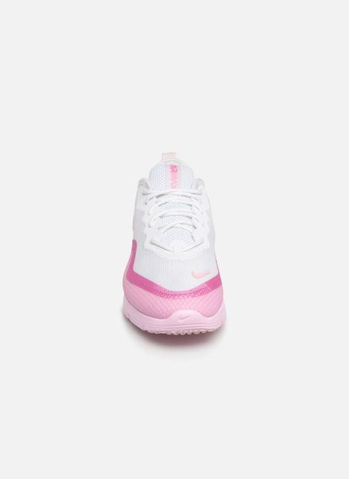 Baskets Nike Wmns Nike Airmax Sequent4.5Prm Rose vue portées chaussures