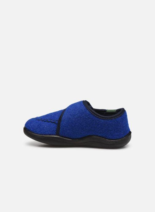 Pantuflas Kamik Cozylodge Azul vista de frente