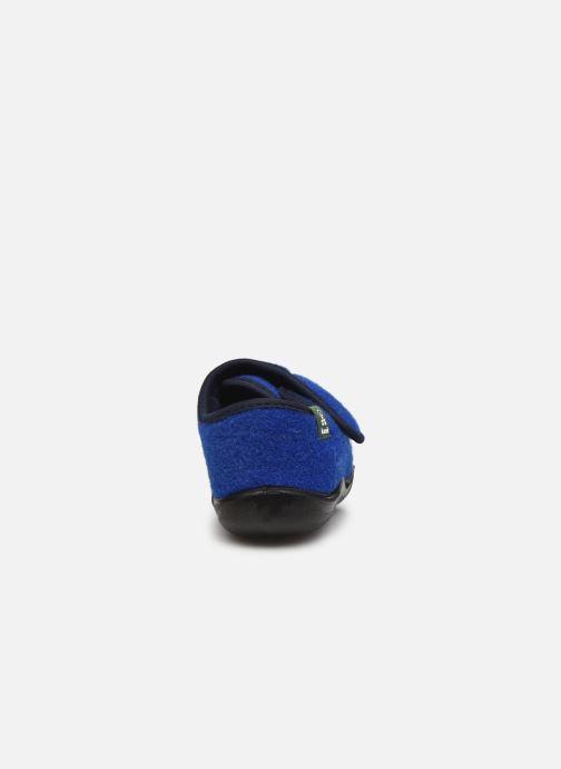 Pantuflas Kamik Cozylodge Azul vista lateral derecha