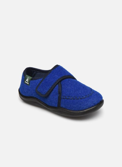 Pantuflas Kamik Cozylodge Azul vista de detalle / par
