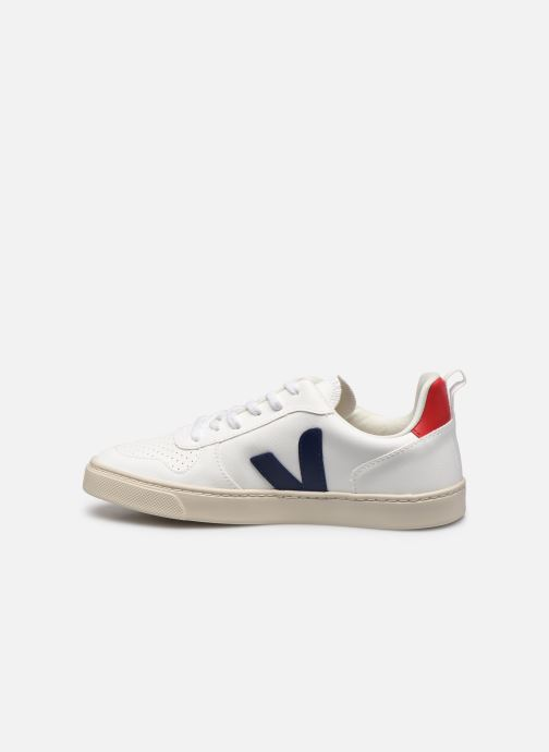 Sneakers Veja Small V-10 Lace Bianco immagine frontale