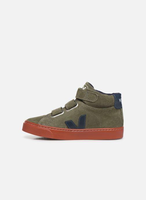 Sneakers Veja Esplar Small Mid Velcro Verde immagine frontale