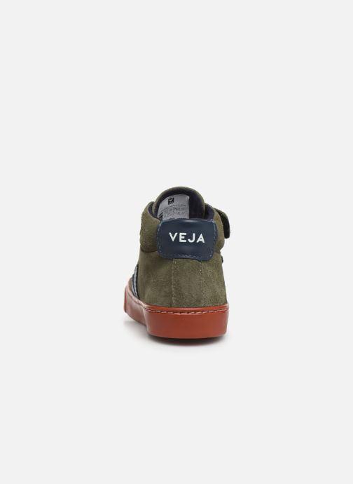 Sneakers Veja Esplar Small Mid Velcro Verde immagine destra