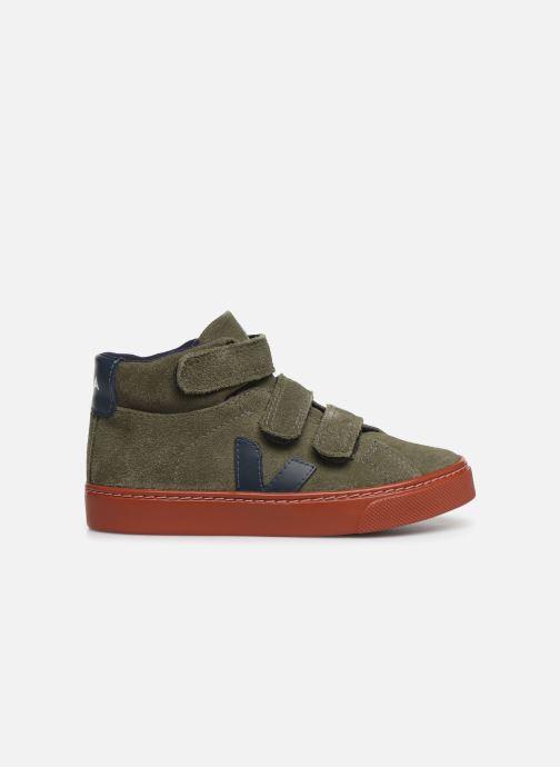 Sneakers Veja Esplar Small Mid Velcro Verde immagine posteriore