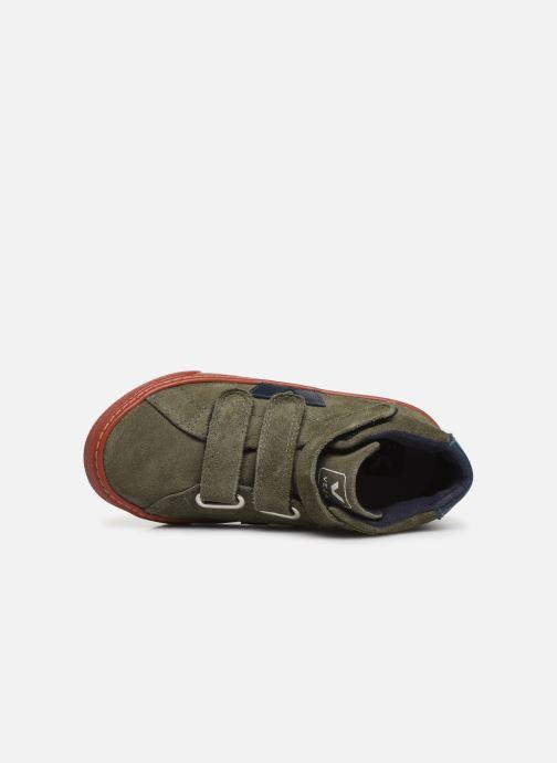 Sneakers Veja Esplar Small Mid Velcro Verde immagine sinistra