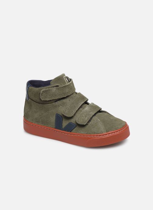 Trainers Veja Esplar Small Mid Velcro Green detailed view/ Pair view