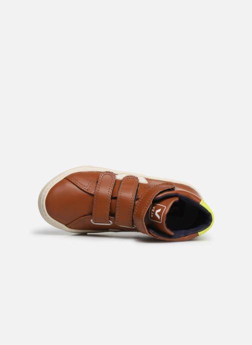 Baskets Veja Esplar Small Mid Velcro Marron vue gauche