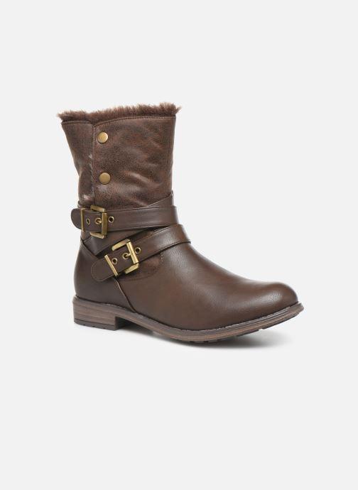 Ankelstøvler I Love Shoes FALEXA Size + Brun detaljeret billede af skoene