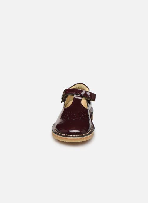 Ballerines Young Soles Penny Bordeaux vue portées chaussures