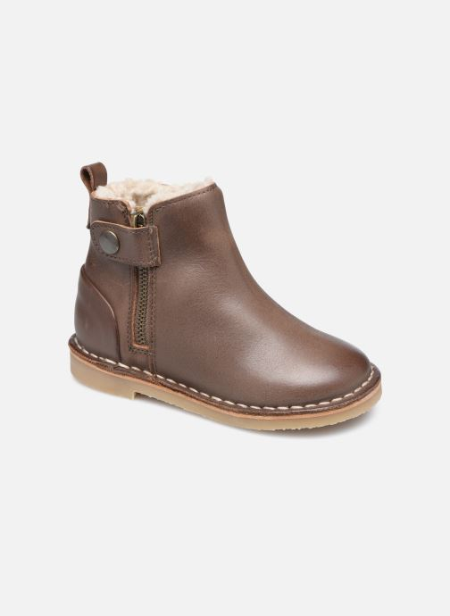 Bottines et boots Young Soles Winston Marron vue détail/paire
