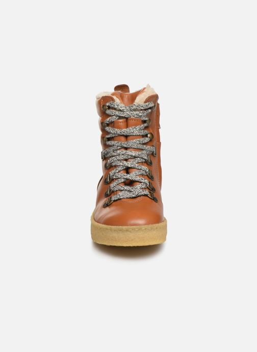 Ankle boots Young Soles Ernest Brown model view