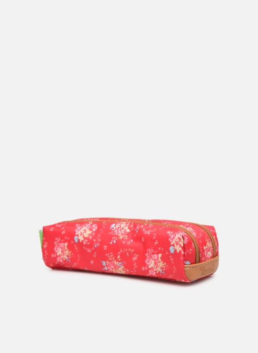 Schulzubehör Tann's LONDON TROUSSE DOUBLE rosa schuhe getragen