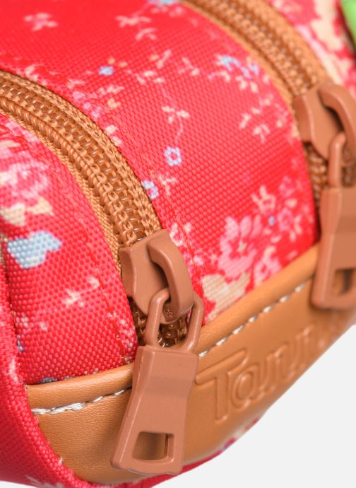 School bags Tann's LONDON TROUSSE DOUBLE Pink view from the left