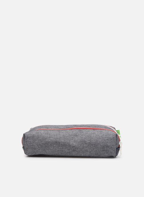 School bags Tann's LIGHT TROUSSE DOUBLE Grey front view