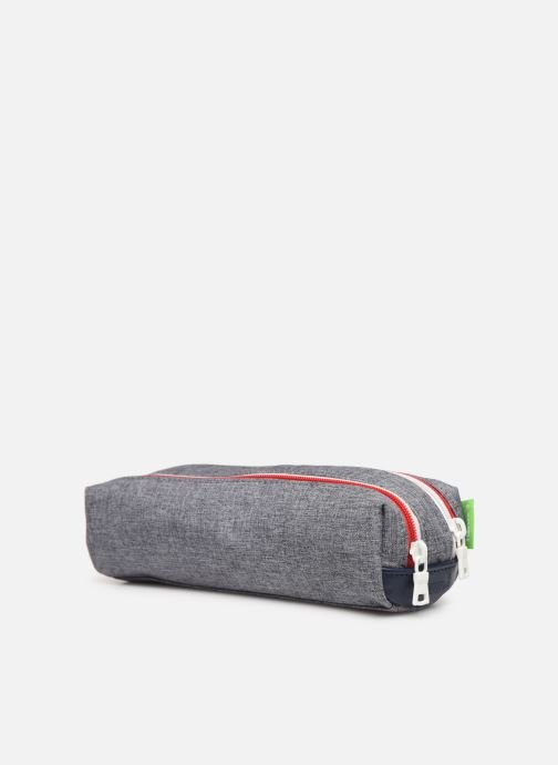 School bags Tann's LIGHT TROUSSE DOUBLE Grey view from the right