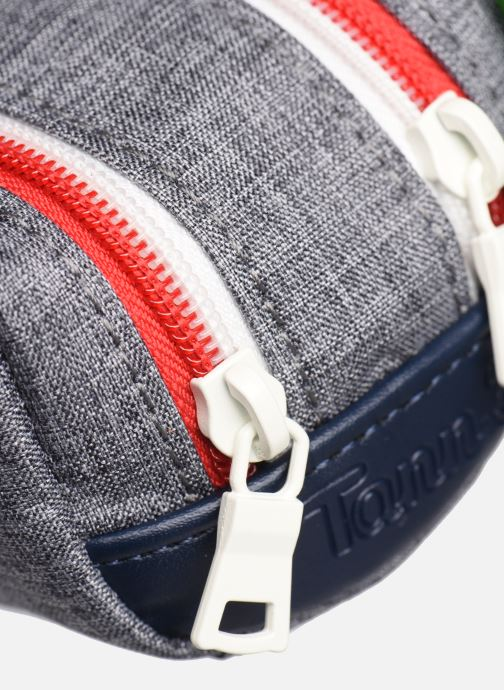School bags Tann's LIGHT TROUSSE DOUBLE Grey view from the left