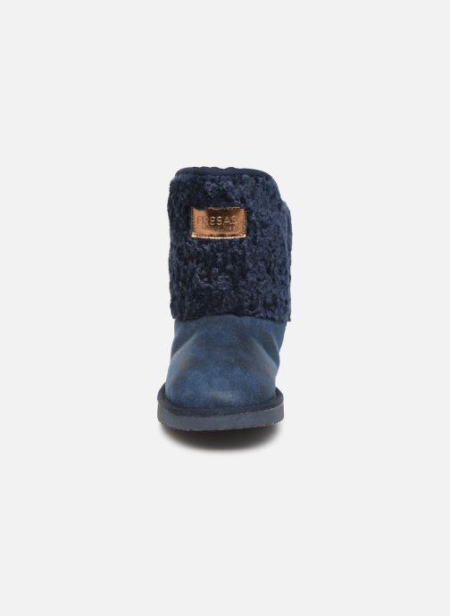 Bottes Fresas by Conguitos Jl5 542 11 Bleu vue portées chaussures