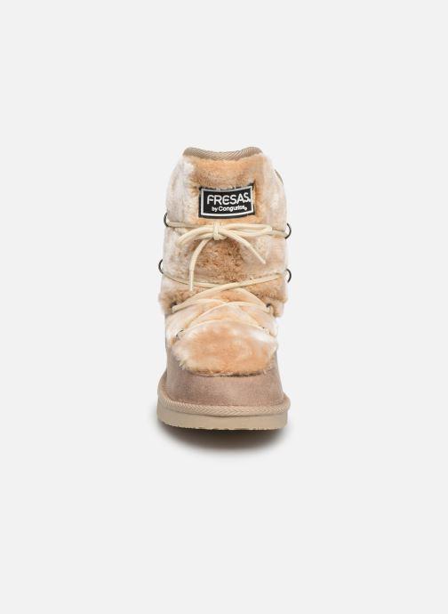 Bottes Fresas by Conguitos Jl5 543 08 Marron vue portées chaussures