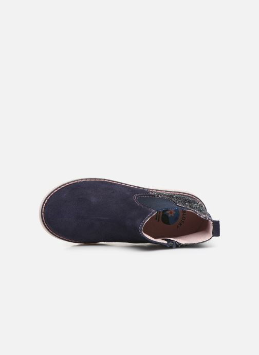 Bottines et boots Pablosky Annita Bleu vue gauche