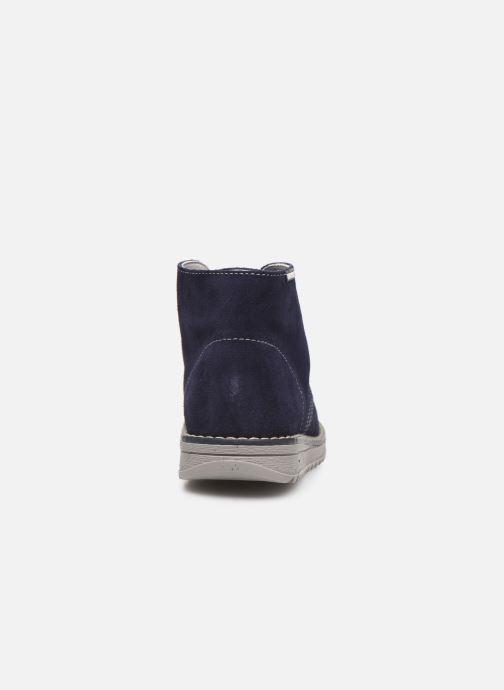 Zapatos con cordones Pablosky Felip Azul vista lateral derecha