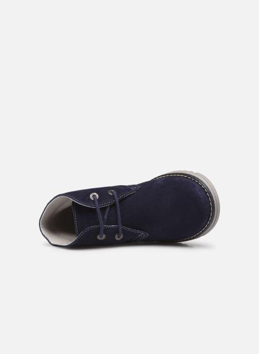 Zapatos con cordones Pablosky Felip Azul vista lateral izquierda