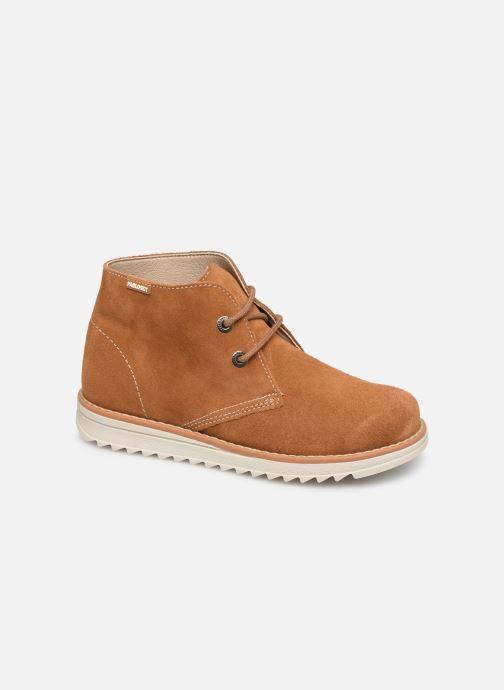 Snøresko Pablosky Felip Brun detaljeret billede af skoene