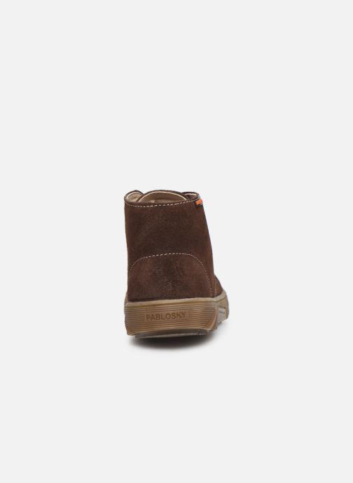 Chaussures à lacets Pablosky Pio Marron vue droite